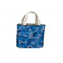 Fish Scales Blue Tote Shopping Bag For Life