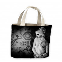 Day of the Dead Girl Nude Tote Shopping Bag For Life