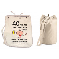 The Years Have Been Kind Men's 40th Birthday Present Duffle Backpack Bag