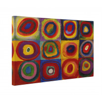 Wassily Kandinsky Colour Study Square with Cincentric Circles Box Canvas Print Wall Art - Choice of Sizes