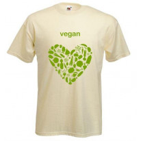 Vegan Heart Logo T-Shirt