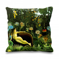 Henri Rousseau The Dream Exotic Forest Faux Silk 45cm x 45cm Sofa Cushion