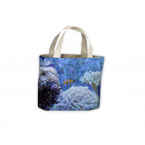 Coral with Clown Fish Sea Tote Shopping Bag For Life