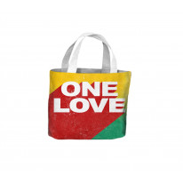 One Love Rasta Colours Reggae Tote Shopping Bag For Life