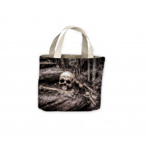 Skull and Crossbones in Dirt Tote Shopping Bag For Life