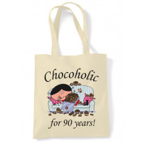 Chocoholic For 90 Years 90th Birthday Tote Bag