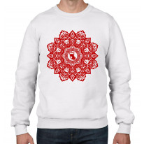 Christmas Stocking Mandala Men's Sweatshirt Jumper