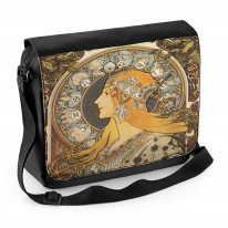 Alphonse Mucha Zodiac Laptop Messenger Bag