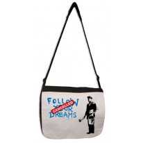 Banksy Follow Your Dreams Laptop Messenger Bag