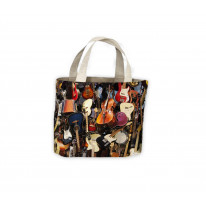 Guitar & Strings Band Collection Tote Shopping Bag For Life