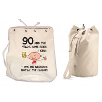 The Years Have Been Kind Men's 90th Birthday Present Duffle Backpack Bag