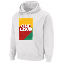 One Love Rasta Colours Pouch Pocket Pull Over Hoodie