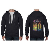 Banksy Stained Glass Full Zip Hoodie
