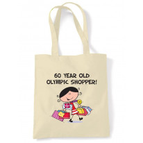 60 Year Old Olympic Shopper 60th Birthday Tote Bag