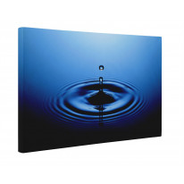 Drop of Water Blue Box Canvas Print Wall Art - Choice of Sizes