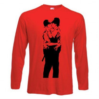 Banksy Kissing Coppers Long Sleeve T-Shirt