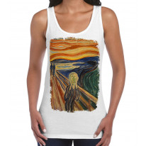Edvard Munch The Scream Large Print Women's Vest Tank Top