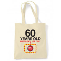 Don't Panic 60th Birthday Tote Shoulder Shopping Bag