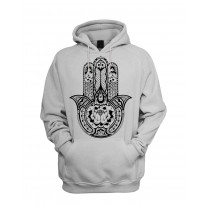 Tribal Hamsa Hand Of Fatima Tattoo Men's Pouch Pocket Hoodie Hooded Sweatshirt