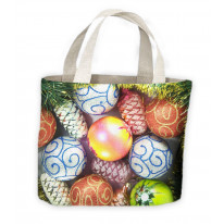 Christmas Baubles Tote Shopping Bag For Life