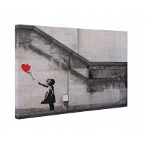 Banksy Girl with Heart Balloon Box Canvas Print Wall Art - Choice of Sizes