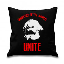 Karl Marx Workers Of The World Unite Cushion