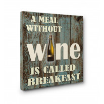 A Meal without Wine is called Breakfast Box Canvas Print Wall Art - Choice of Sizes