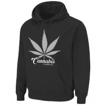 Cannabis For Medical Use Leaf Pouch Pocket Pull Over Hoodie