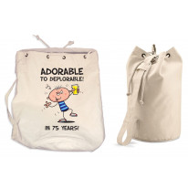 Adorable To Deplorable Men's 75th Birthday Present Duffle Backpack Bag