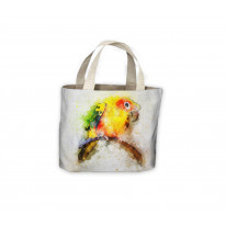 Parrot Bird Drawing Tote Shopping Bag For Life