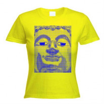 Blue Buddha  Womens T-Shirt