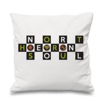 Northern Soul Badges Logo Cushion
