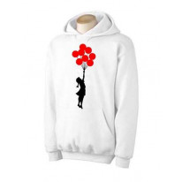 Banksy Girl With Red Balloons Hoodie