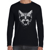 Heavy Metal Pussy Cat Men's Long Sleeve T-Shirt
