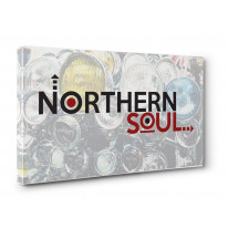 Northern Soul Arrows Logo Canvas Print Wall Art - Choice Of Sizes