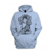 Buddha Design Men's Pouch Pocket Hoodie Hooded Sweatshirt