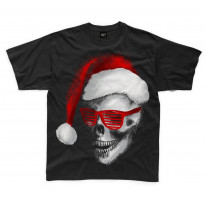 Santa Claus Skull Father Christmas Bah Humbug Kids T-Shirt