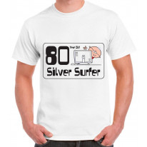 80 Year Old Silver Surfer 80th Birthday Men's T-Shirt
