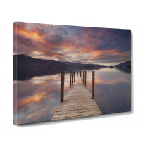 Derwent Water Jetty Box Canvas Print Wall Art - Choice of Sizes