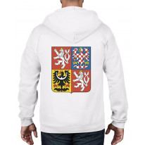 Czech Republic Coat Of Arms Flag Full Zip Hoodie