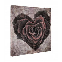 Rose Love Heart Box Canvas Print Wall Art - Choice of Sizes