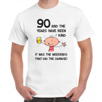The Years Have Been Kind Men's 90th Birthday Present T-Shirt