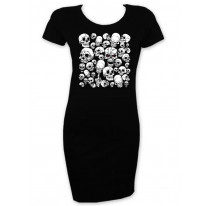 Skull Garden Short Sleeve T-Shirt Dress