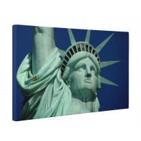 Statue of Liberty Close Up Box Canvas Print Wall Art - Choice of Sizes