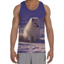 Arctic Wolf Cub in Snow Men's All Over Graphic Vest Tank Top