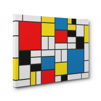 Piet Mondrian style Box Canvas Print Wall Art - Choice of Sizes
