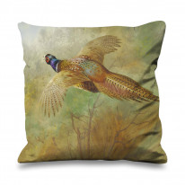 Archibald Thorburn Flying Pheasant Faux Silk 45cm x 45cm Sofa Cushion