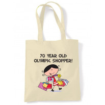 70 Year Old Olympic Shopper 70th Birthday Tote Bag