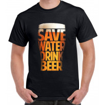 Save Water Drink Beer Drinking Men's T-Shirt