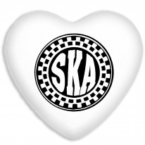 Ska Circle Faux Silk Heart Shaped Sofa Cushion